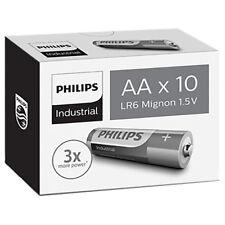 Philips Industrial Alkaline AA Batteries - Box of 10