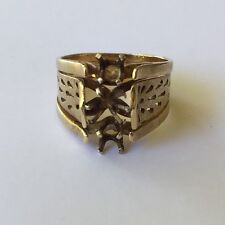 14k yellow gold womens mount engagement ring 6.9 grams vintage cocktial ring