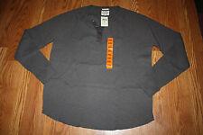 NWT Mens LUCKY BRAND Dark Gray Henley Thermal Long Sleeve Winter Shirt 2XL