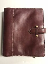 Franklin Covey Aurora Classic Unstructured Binder Planner Leather Burgundy Wine