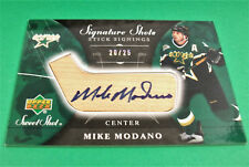 06-07 UD SWEET SHOT MIKE MODANO SIGNATURE SHOTS STICK SIGNINGS AUTO RELIC #/25