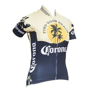 CORONA VINTAGE WOMEN'S SHORT SLEEVE CYCLING JERSEY FULL LENGTH ZIPPER