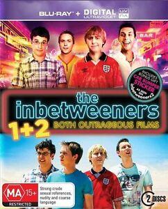 THE INBETWEENERS 1 & 2 BLU-RAY, NEW & SEALED, FREE POST.