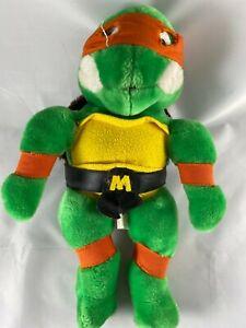 """TMNT TEENAGE MUTANT NINJA TURTLES Michelangelo PLUSH 14"""" RARE"""