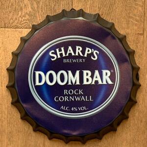 DOOM BAR Wall Sign Tin Metal 35cm Bottle Top Bar Pub Man Cave FAST DELIVERY