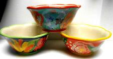 "3  Pioneer Woman Collection Floral Soup Salad 6.75"" Cereal Bowls Stoneware Celia"