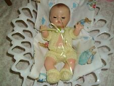 No Doll Darling Baby Yellow Hand-Knit Set Made For Patsy Babyette 9""