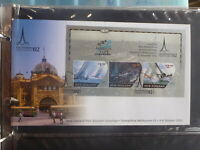 NEW ZEALAND 2002 AMERICAS CUP MELB STAMP SHOW MINI SHEET SOUVENIR COVER