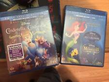 Disney's (Blu-Ray DVD) lot mermaid 2/3 and cinderella 2/3!!NEW!!
