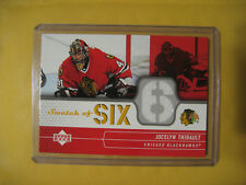 2004-05 04-05 UD Upper Deck Swatch Of Six Jocelyn Thibault #SS-JO Blackhawks