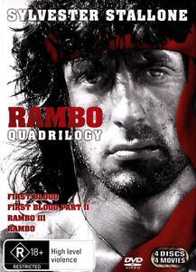Rambo Quadrilogy First Blood / Part II / Part III / 2008 NEW DVD Stallone