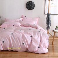 Single/Double/Queen/King Bed Quilt/Doona/Duvet Cover Set Cotton Pink Dandelion
