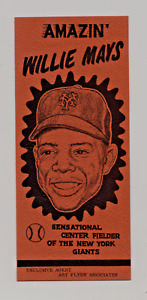 1950's Amazin' Willie Mays Advertising By Art Flynn Associates Nm/Mt Very Rare
