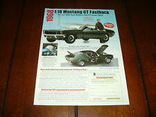 1968 STEVE McQUEEN BULLITT FORD MUSTANG GT HAMILTON COLLECTION ***ORIGINAL AD***