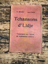 [9881-B37] Tchansons d'Lidje - Meyers - Tysen - Chansons wallonnes Liège