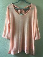 Women's Peach Tunic, w/ Ballet Tie Back Top, Simply Noelle, Size L/XL