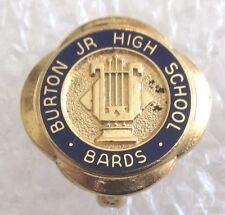 Vintage Burton Junior High School Bards Pin - Michigan