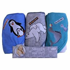 Boys, Wild Animal Design, Hooded Baby Bath Infant Towel Set, 3 Pack Knit Terr.
