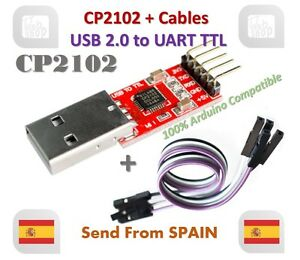 CP2102 USB 2.0 To Uart Ttl 5PIN Modulo Seriale Converter With Cavo For Arduino