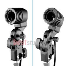 2x E27 Photography Photo Studio Light Lamp bulb Single Holder E27 Socket Bracket