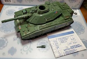 VINTAGE 1982 GI JOE MOBAT MOTORIZED BATTLE TANK COMPLETE WORKS w BLUEPRINT COBRA