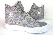 Converse Womens Chuck Taylor Size 7 Selene Winter Knit Mid Grey Textile Sneakers