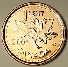 2005 P Steel CANADA 1 Cent Magnetic Penny From Mint Roll UNC Very LOW MIntage