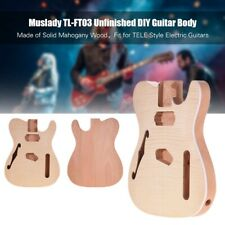 More details for unfinished electric guitar body mahogany wood blank barrel for tele style m9b2