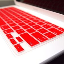 """RED Silicone Keyboard Cover Skin for Macbook White 13"""""""