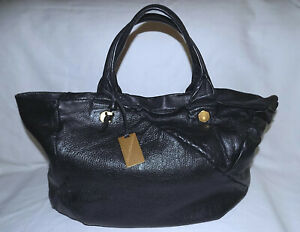 MARC JACOBS Genuine 100% Leather Extra Large Bag-Black with interior Stains-Good