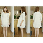 Fashion pregnant women summer long sleeve soft lace summer dress Maternity Dress