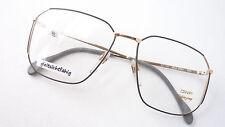 Luxus Brille Marken Gestell OWP hochwertig leicht Metall grau gold eckig size M