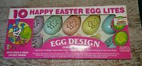 Vintage Plastic Happy Easter Egg String Lights 10 Lites new in box never used