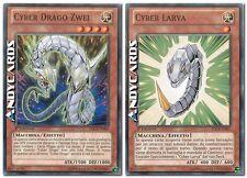 Cyber Drago Zwei + Cyber Larva ☻ Comune ☻  SDCR IT004 IT007 ☻ YUGIOH