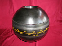 "HOKUSHIN GYROSPHERE 10"" w WOOD CASE - for MAIN GYRO COMPASS - YOKOGAWA JAPAN vtg"