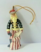 "Vintage Limited Edition Duncan Royale Christmas Ornament - ""Cival War"" Santa"