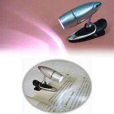 Mini LED Night Light Adjustable Clip On Book Reading Lamp Portable Travel Lights