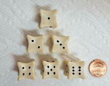 Koplow's *Bone* Dice - Set of Six - 18mm OP Ivory w/Black Pips - Roll Dem Bones!