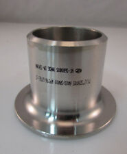 "Lot of 10 316 Stainless Steel 1-1/2"" Butt Weld Pipe Stub End SCH 10"