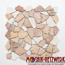 Mosaik Fliese Marmor Bruchmosaik mix RossoCream Wand Boden Bad Art: 44-30-130_b