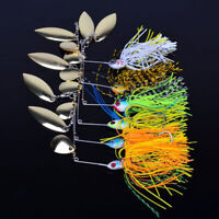 1pc 11g Chatterbait Blade Bait with Rubber Skirt buzzbait Fishing Lures T RAS