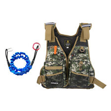 Life Jacket Safety Kayak Canoe Fishing Swim Reflective Vest + Paddle Leash