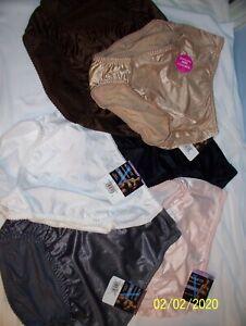 Choice of Assorted Vassarette Satin Second Skin HiCut Panties NWT Per Panty