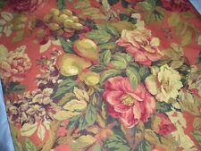 """Raymond Waites fabric 2 1/2 yds Shabby Rose & fruit 54"""" wide NEW"""