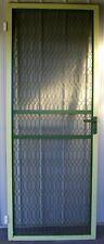 Vintage SECURITY DOOR  heavy duty SOLID METAL  welded Hinges  207.5cm x 78.5cm