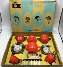 Vtg Bannertone Plastic Tea Set #650 Poly Symphony Tea Set