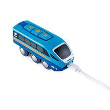 Hape E3726 Télécommandé Train Bleu pour Train en Bois Neuf ! #
