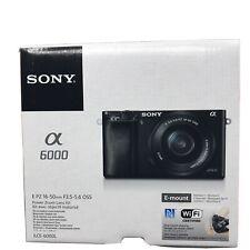 Sony Alpha α6000 24.3MP Digital SLR Camera - Black (Kit with E PZ 16-50mm)