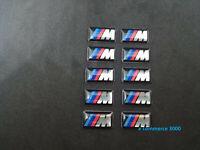 set 10 pz Logo Emblema Adesivo BMW m Sport cerchi gomme volante interni ruote