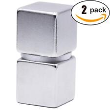 """1"""" square Neodymium Magnets, Strongest One Inch Square Rare Earth Magnet 2 Pc"""